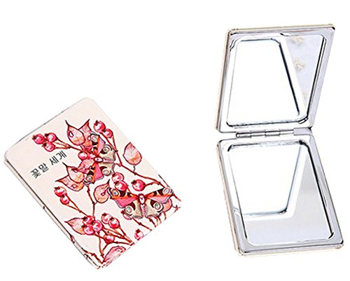 Princess Cheval Mirror - Blancho Bedding One Portable Princess Mirror Vanity Mirror Little Makeup Mirror 8x6x1CM (Fire Butterfly)