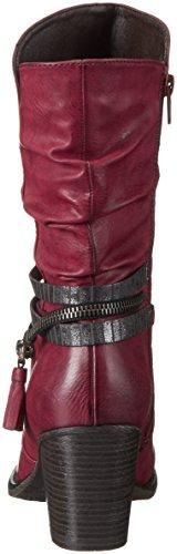 Rieker 95778, Botines para Mujer Rojo (wine/antracite / 35)