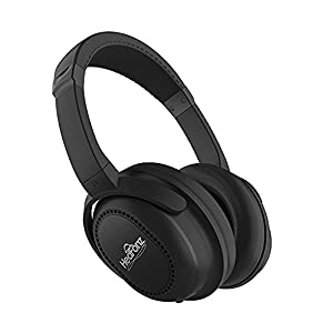 HedFonz Active Noise Cancelling, Wireless Over Ear Bluetooth Headphones with Microphone, Excellent Sound Quality with Durable Travel Case