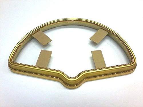 StandardPictureFrames 12 X 20 Ornate Fan CASE Hand LEAFED Gold Frame Standard Size - Free Glass