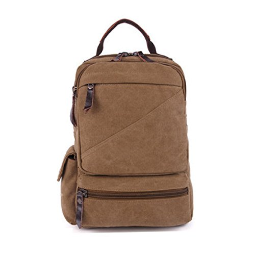 Multi Shoulder Retro purpose Backpack Bag Canvas Laidaye Business Khaki Travel Leisure 6fOnwqxH0g