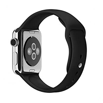 "Original Apple Watch 38mm (fits 5.1"" - 7.8"" wrists) - Space Gray Aluminum Case, Black Sport Band Edition (Retail Packaging)"