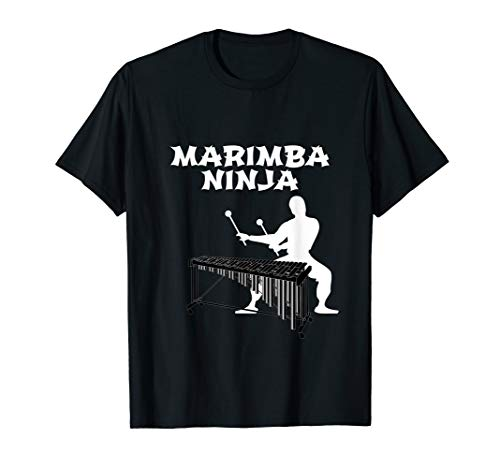 (Marimba Ninja Marching Band T-Shirt | Funny Percussion Shirt)