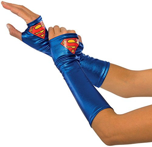 Rubie's Costume Co Women's DC Superheroes Supergirl Gauntlets, Multi, One Size (Super Heroes Woman)