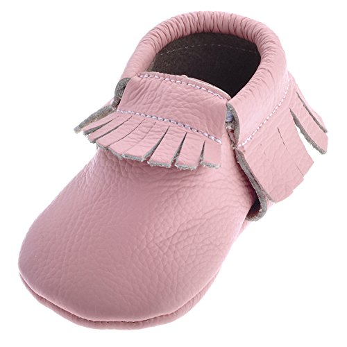 Da Criança Bebê Borla Rosa De Mocassins Únicos Sayoyo Macios Sapatos Berço Couro Unisex A5ZwqU