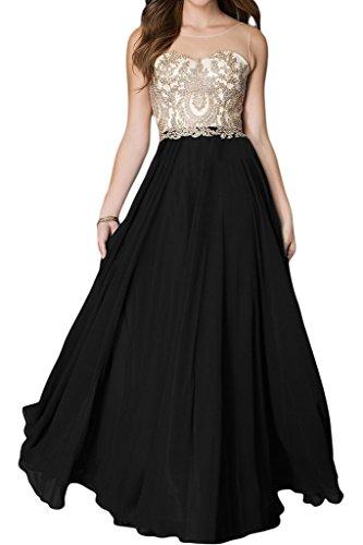 vestito rotonda festa donna sera colletto lunga punta acciaio una di Ivydressing da qualità Nero con inox Bete A in linea alta Applicazione dell'abito 1xw5qfU