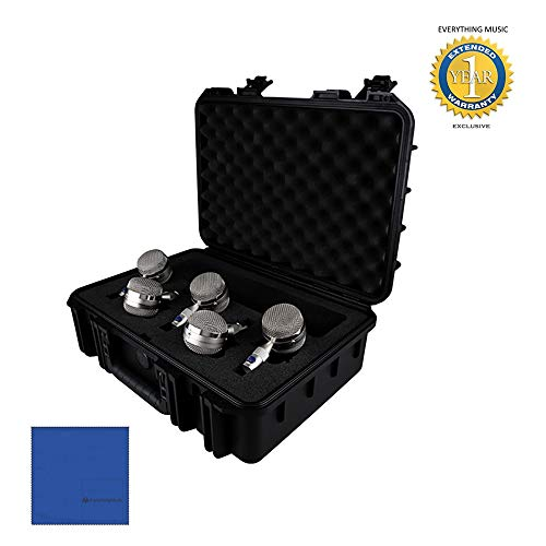 Blue Microphones Bottle Capsule Kit (B1, B2, B3, B4, B5 Microphone Capsules) with Microfiber and 1 Year Everything Music Extended Warranty