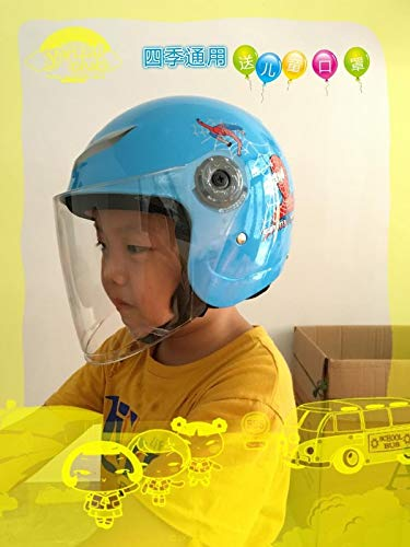 t:mon Spring and Winter Electric Cars Motorcycle Helmets Bicycle Helmets for Children Kids Boys Children Four Seasons General Exposure