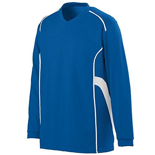 Custom Jersey V-neck Soccer (Augusta Sportswear MEN'S WINNING STREAK LONG SLEEVE JERSEY XL Royal/White)