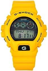 Casio Men's G6900A-9 G-Shock Yellow Shock-Resistant Black Dial Watch