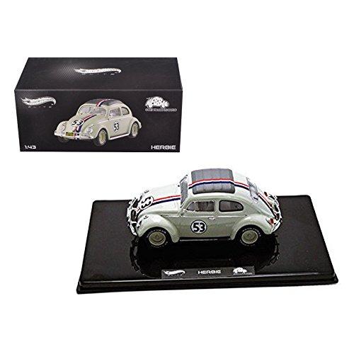 VW Volkswagen Beetle #53 Love Bug Herbie Goes To Monte Carlo Elite Edition 1/43 Diecast Model Car by Hotwheels