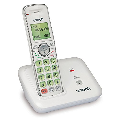 VTech CS6419-17 DECT 6.0 Expandable Cordless Phone with Caller ID and Handset Speakerphone, 1 Handset, White