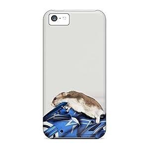 High Grade mobile phone carrying skins stylish case iphone 5c - hamster funny Kimberly Kurzendoerfer