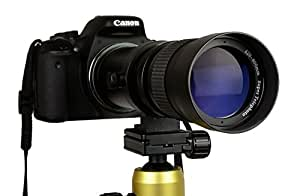 Lightdow 420-800mm F/8.3-16 Super Telephoto Manual Zoom Lens + T-Mount for Canon EOS DSLR