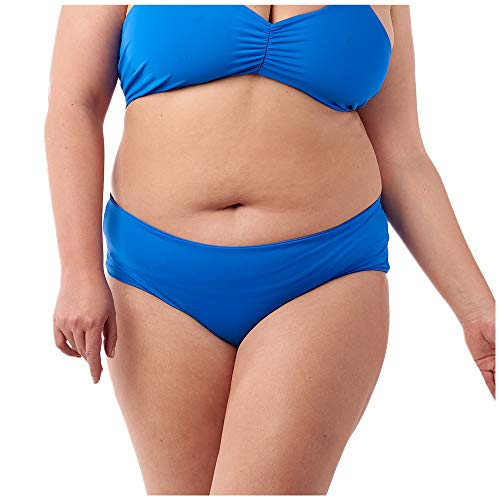 (Fused Hawaii Kona Cheeky Bikini Bottom | Ruched Back Detail | Swimsuits for Active Women, Ocean, M )