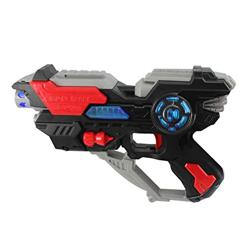 P&F Electronic Futuristic Weapon Space Gun Toy Sound Making, Colorful Led Flashing Lights