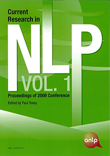 Current Research in NLP: v.1: Proceedings of 2008 Conference by University of Surrey