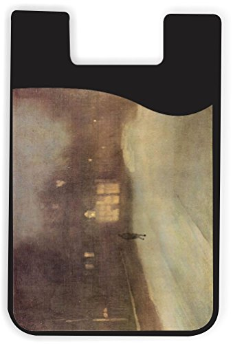 - Rikki Knight James Abbot McNeill Whistler Nocturne Snow in Chelsea Design Silicone Phone Card Holder Wallet for iPhone/Galaxy All Android Smartphones - with Removable Soft Microfiber Screen Cleaner