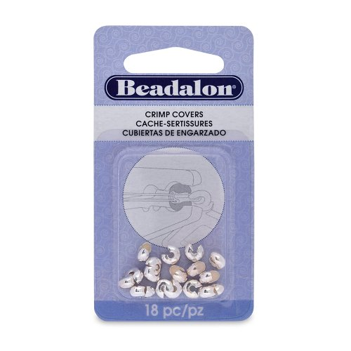 Artistic Wire Beadalon Crimp Cover 6mm Nickel Free Silver, Plated, 18-Piece