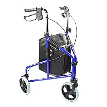 Elite Care - Andador de 3 ruedas con freno y cesta ...