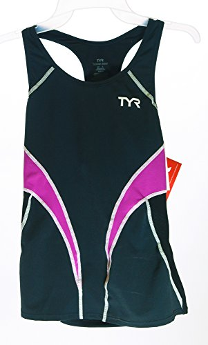 Tyr Competitor Fitted Tankini Female Black/Purple Large