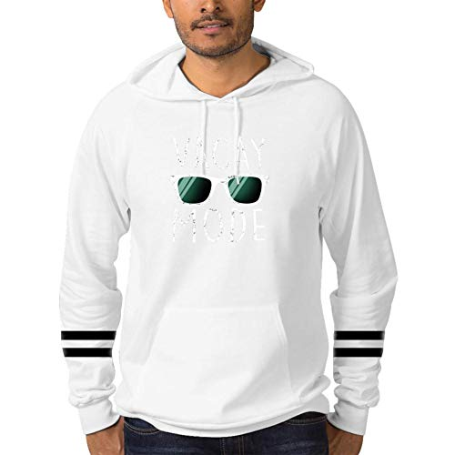 Style Hood Frp - Mens Pullover Hoodie Vacay Mode Sunglasses Long Sleeve Fleece Hoody Casual Tops Sweatshirt White