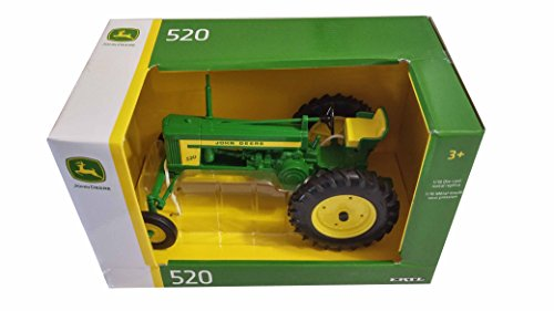 ERTL John Deere Model 520 Tractor 1:16 Die Cast Metal Replica