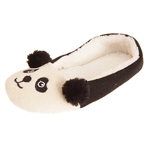 Womens ladies Dreaming Slipper Animal Panda Forever Character Shoes B8TA15f