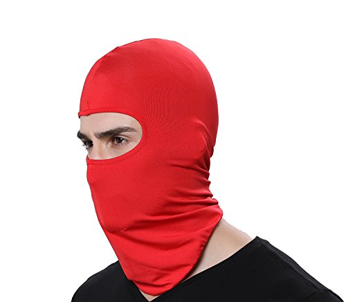 GAMWAY Ski Mask Balaclava Hood Skullies Beanies Outdoor Sports Cycling Hat (Red) (Best Homemade Face Mask For Wrinkles)