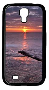 Popular Designed beach sunset hd Polycarbonate Hard Case Cover for Samsung Galaxy I9500/S4 Black BY Only-one