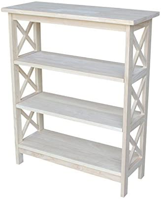 International Concepts 3-Tier X-Sided Bookcase