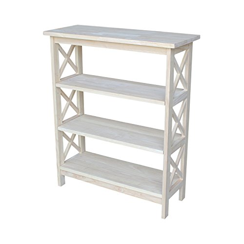 International Concepts SH-3630 X 3-Tier X-Sided Bookcase, (3 Tier Etagere)