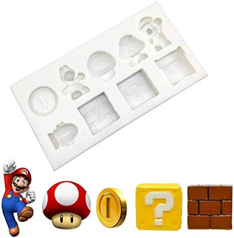 Game Super Mario Silicone Mold Cupcake Bakvorm Fondant Cake Decorating ToolsGrey