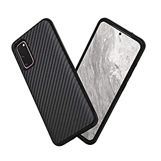 RhinoShield Case Compatible with Samsung [Galaxy S20] | SolidSuit - Shock Absorbent Slim Design Protective Cover [3.5M / 11ft Drop Protection] - Carbon Fiber Texture