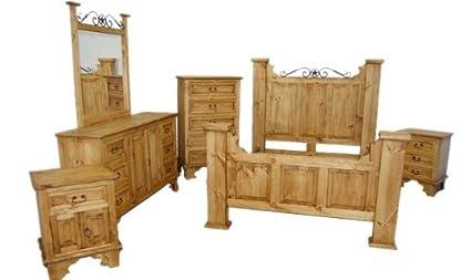 Merveilleux King Size Hacienda Bedroom Set, Western Rustic
