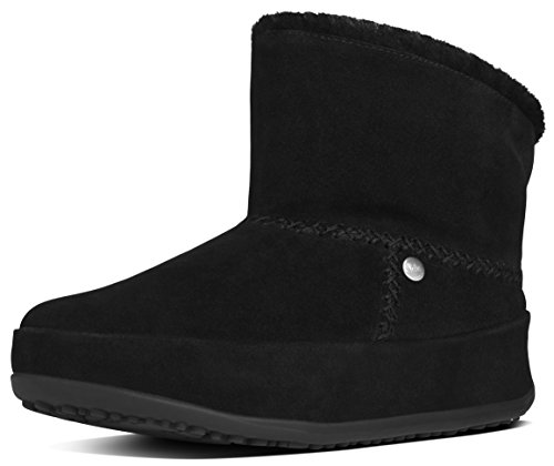 FitFlop Women's Mukluk Shorty Boot, All Black, 7 M US