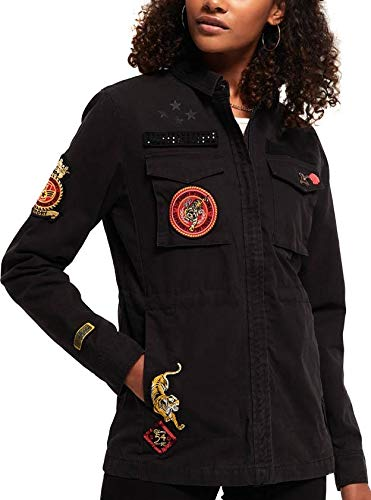Superdry Chaqueta New Army Negro XS Negro: Amazon.es: Ropa y ...