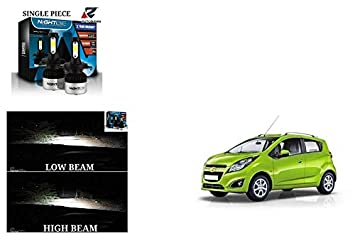Kunjzone Nighteye Ultrawhite Led Headlight Bulbs H4 For Chevrolet Beat Amazon In Car Motorbike