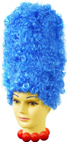 Marge Simpson Adult Costume Wig Blue One Size