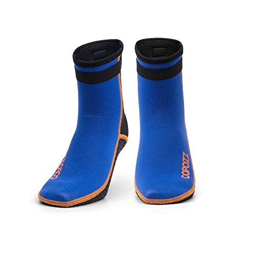 COPOZZ Diving Socks 3mm Neoprene Beach Water Socks, Surfing Booties Thermal Flexible Kayaking Anti Slip Wetsuit Boots for Rafting Snorkeling Swimming Wading Sailing for Youth Men Women