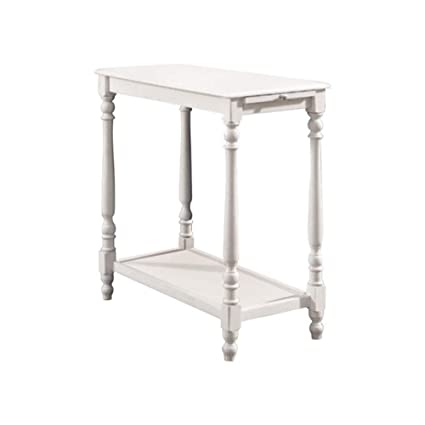 Attrayant Amazon.com: Benzara BM123167 Transitional Side Table, White, One,: Kitchen  U0026 Dining