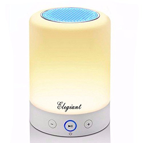Led Lamp Speaker Elegiant Wireless Stereo Speaker Led Wireless Speaker Led Night Light Table Lamp With Color Changing Touch Dimmable And Different Lighting Level Support Hands Free Function Tf Card