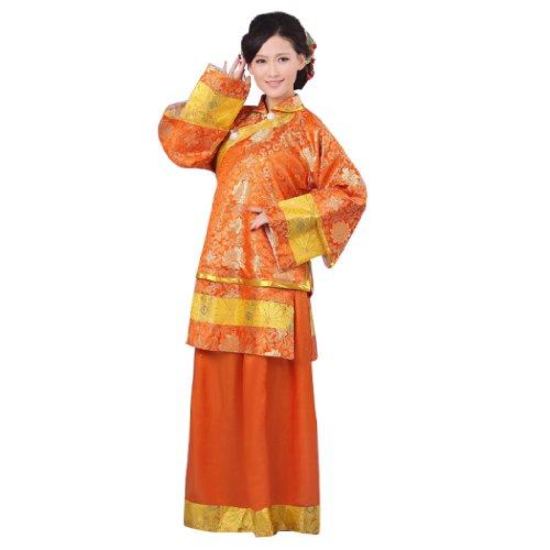 Bysun women's Republic kimono dress Lily OrangeFS