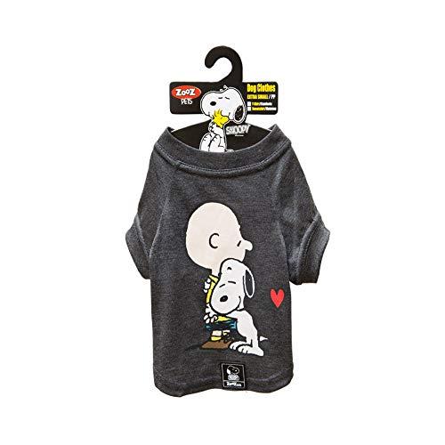 Camiseta Snoopy Charlie Zooz Pets para Cães Hug - Tamanho PP