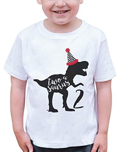 7 ate 9 Apparel Dino Two Birthday Dinosaur T-Shirt