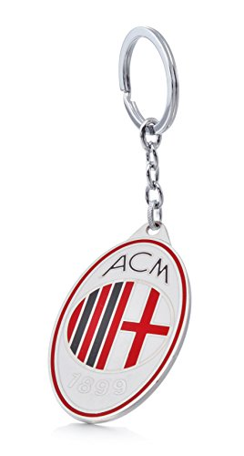 Official A.C. Milan Football Club Soccer Team Logo Metal Pendant Keychain