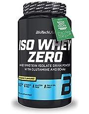 BioTechUSA Iso Whey ZERO, Lactose, Gluten, Sugar FREE, Premium Whey Protein Isolate, 908 g, Banana