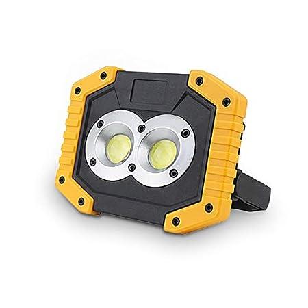 LIFH Proyector LED Lámpara de Reflector 20W 400LM Recargable ...