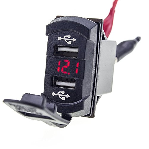 Voltmeter Charger Socket Outlet Digital