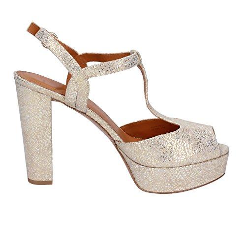 Quoi De Sandales Pour Femmes 40 Eu Gold / Beige Leather